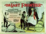 The Last Frontier (1926) afişi