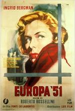 Avrupa'51 (1952) afişi