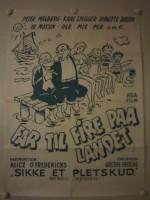 Far til fire på landet (1955) afişi