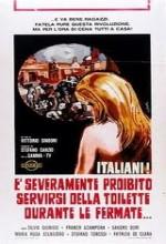 Italiani! È severamente proibito servirsi della toilette durante le fermate (1969) afişi