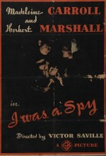 I Was A Spy (1933) afişi
