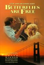 Kelebekler Özgürdür (1972) afişi