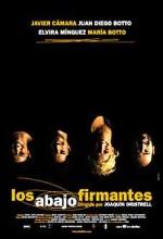 Los Abajo Firmantes (2003) afişi