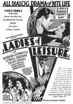 Ladies of Leisure (1930) afişi