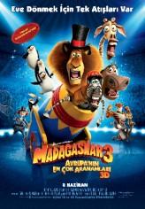 Madagaskar 3: Avrupa'nın En Çok Arananları (2012) afişi