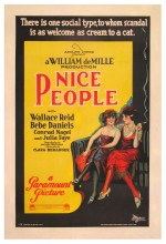Nice People (1922) afişi