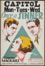 Once A Sinner (1931) afişi