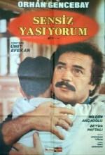 Sensiz Yaşıyorum (1989) afişi