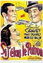 Si J'étais Le Patron (1935) afişi