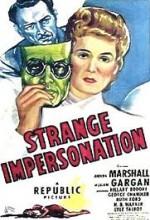 Strange ımpersonation (1946) afişi