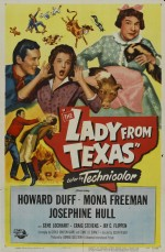 The Lady From Texas (1951) afişi
