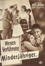 Wegen Verführung Minderjähriger (1960) afişi
