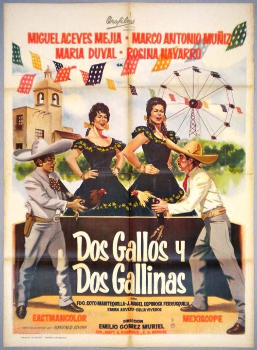 Dos Gallos Y Dos Gallinas