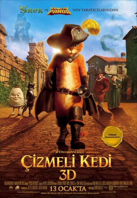 Çizmeli Kedi (2011) afişi