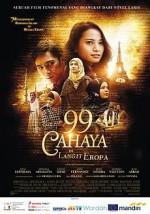 99 Cahaya di Langit Eropa (2013) afişi