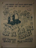 Far til fire på landet (1955) afişi