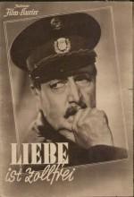Liebe Ist Zollfrei (1941) afişi