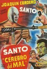Santo Contra Cerebro Del Mal (1961) afişi