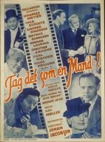 Tag Det Som En Mand (1941) afişi