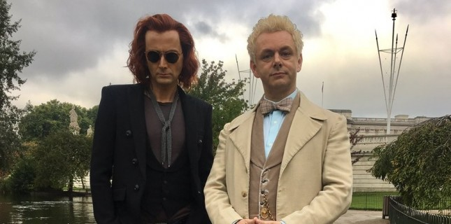 David Tennant ve Michael Sheen 'Good Omens'ta Buluştu